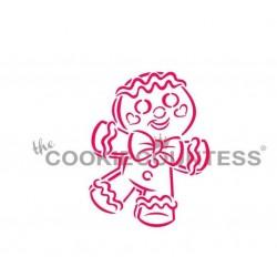 stencil Bonhomme en pain d'épice joyeux PYO - Cookie Countess