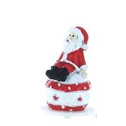 Père Noël sur boule en résine - 1pce
