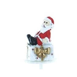 Père Noël sur cadeau en résine - 1pce