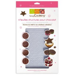 Set of 4 sheets structures choco - ScrapCooking
