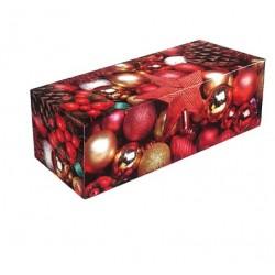 """Boîte à bûche """"Etoile rouge"""" 25 cm"""
