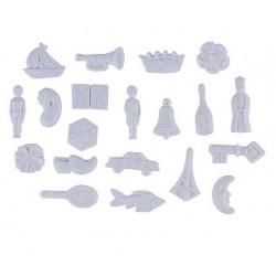 White plastic trinket - swan - 1 piece
