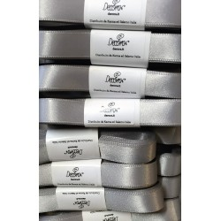 "Satin ribbon Decora ""argento / silver"" 0.59in x 196,85in"