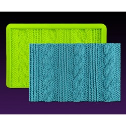 Texture Rib & Cable Knit Simpress™ - 15,95 x 10,16 cm - Marvelous Molds