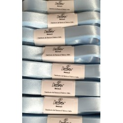 "Satin ribbon Decora ""celeste baby / baby blue"" 0.59in x 196,85in"