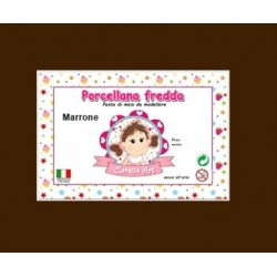 Porcelaine froide - marrone /  brun - 250g