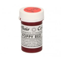 colorant alimentaire concentré poppy red / rouge coquelicot - 25g - Sugarflair