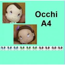 yeux adhésifs - A4 - 10 paires