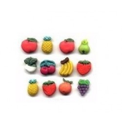 multi fruit silicone mold - 15x10mm