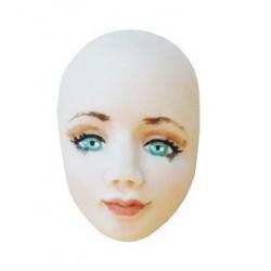 moule silicone visage par Natasel - 3.5 x 2.2 cm