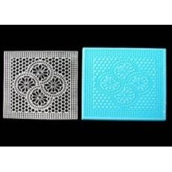 silicone mold square doily
