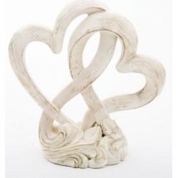 Figurine - vintage double heart - 8cm x 15cm