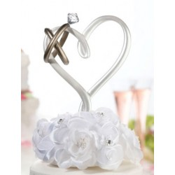 Figurine - heart & wedding rings - 12cm x 20cm