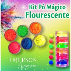 Fluorescent Magic Powder Kit - 6 pieces - 3g each - Emerson