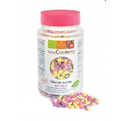 Pot of mini decorations assorted flowers of ScrapCooking - 55g