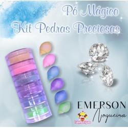 Kit poudre magique pierre précieuse opaque - 6 pièces - 3g chacun - Emerson