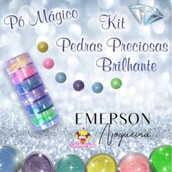Kit poudre magique pierre précieuse brillante - 6 pièces - 3g chacun - Emerson