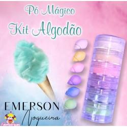 """Kit poudre magique """"doux coton"""" opaque - 6 pièces - 3g chacun - Emerson"""