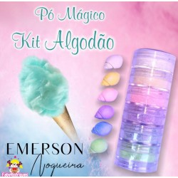 "Magic powder kit ""soft cotton"" opaque - 6 pieces - 3g each - Emerson"