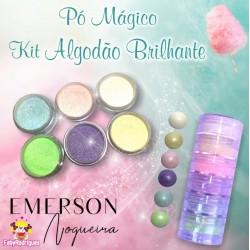 """Kit poudre magique """"doux coton"""" brillant - 6 pièces - 3g chacun - Emerson"""