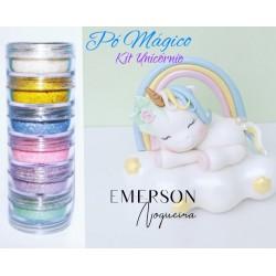 """Kit poudre magique """"licorne"""" - 6 pièces - 3g chacun - Emerson"""
