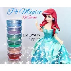 """Kit poudre magique """"sirène"""" - 6 pièces - 3g chacun - Emerson"""