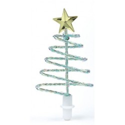 Topper de décoration de gâteau de sapin de Noël en spirale - 60mm