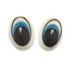 16 yeux en sucre - bleu - 14 x 19 x 5 mm -  Günthart