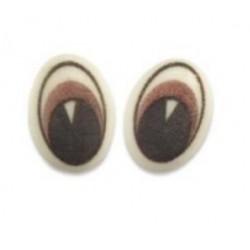 12 yeux en sucre - brun - 17 x 29 x 5 mm -  Günthart