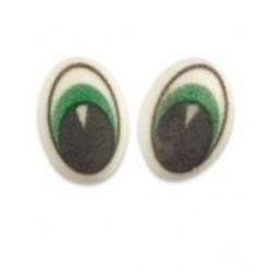 12 yeux en sucre - vert - 17 x 29 x 5 mm -  Günthart