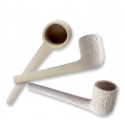 pipe en porcelaine - blanc - 90 x 20 x 30 mm