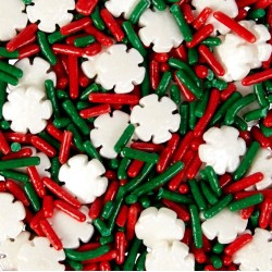 Décorations en sucre sprinkles - Snowflake Mix - Wilton - 110g