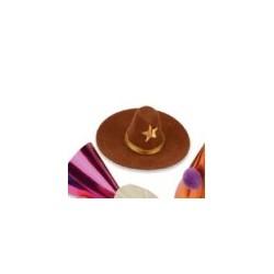"petit chapeau brun ""shérif"" - 35-70 x 10-50 mm"