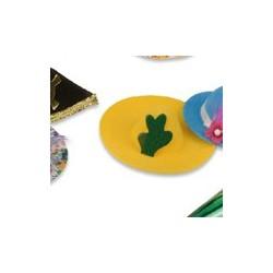 """petit sombrero jaune """"cactus"""" - 35-70 x 10-50 mm"""