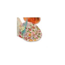 petit chapeau blanc avec fleur orange - 35-70 x 10-50 mm