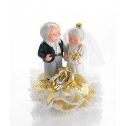 "figurine en porcelaine ""Noces d'or"" - 180 x 150 mm"