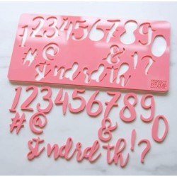 embosser number & symbol - Stylish - Sweet Stamp Amycakes