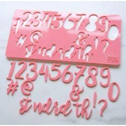 embosseur nombre & symbole - Stylish - Sweet Stamp Amycakes