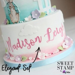 Set complet embosseur lettre majuscule & minuscule - Elegant - Sweet Stamp Amycakes