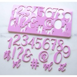embosseur nombre & symbole - Elegant - Sweet Stamp Amycakes