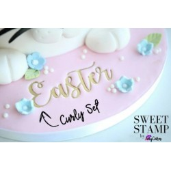 Set complet embosseur lettre majuscule & minuscule - Curly - Sweet Stamp Amycakes