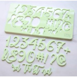 embosser number & symbol - Curly - Sweet Stamp Amycakes