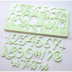 embosseur nombre & symbole - Curly - Sweet Stamp Amycakes