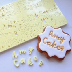 Full set embosser uppercase, lowercase letter, number & symbol - Cookie - Sweet Stamp Amycakes