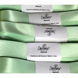 """Satin ribbon Decora """"verde mela / green apple"""" 0.59in x 196,85in"""