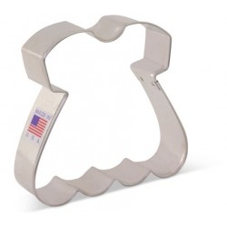 "Cookie cutter baby dress - 3 1/4"" x 3 1/2"" - Ann Clark"
