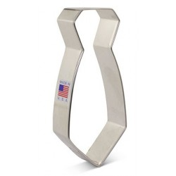 "Cookie cutter neck tie - 4 3/4"" x 2 1/8"" - Ann Clark"