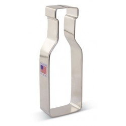 "Cookie cutter wine bottle - 5"" x 1 3/4"" - Ann Clark"