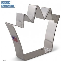 "Cookie cutter king crown - 4 1/4"" x 3 3/4"" - Ann Clark"
