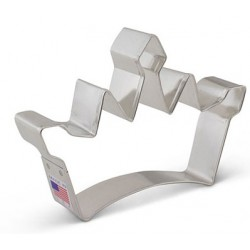 "Cookie cutter princess crown - 3 1/4"" x 4 3/4"" - Ann Clark"